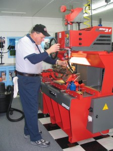 Dean is machining valve seats for a late model stock car on our state of the art Serdi seat and guide machine. There is no substitute for the precision this machine is capable of.
